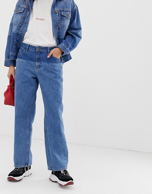 Iden Denim Virginia boyfriend jean with shadow detail co-ord with organic and recycled cotton at asos.com