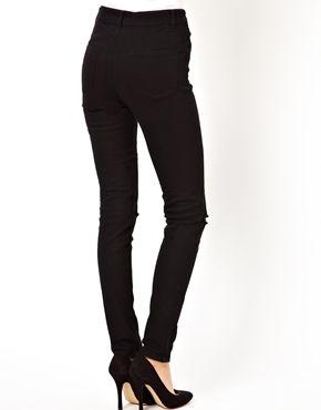 ASOS | ASOS High Waisted Skinny Trousers with Ripped Knee at ASOS