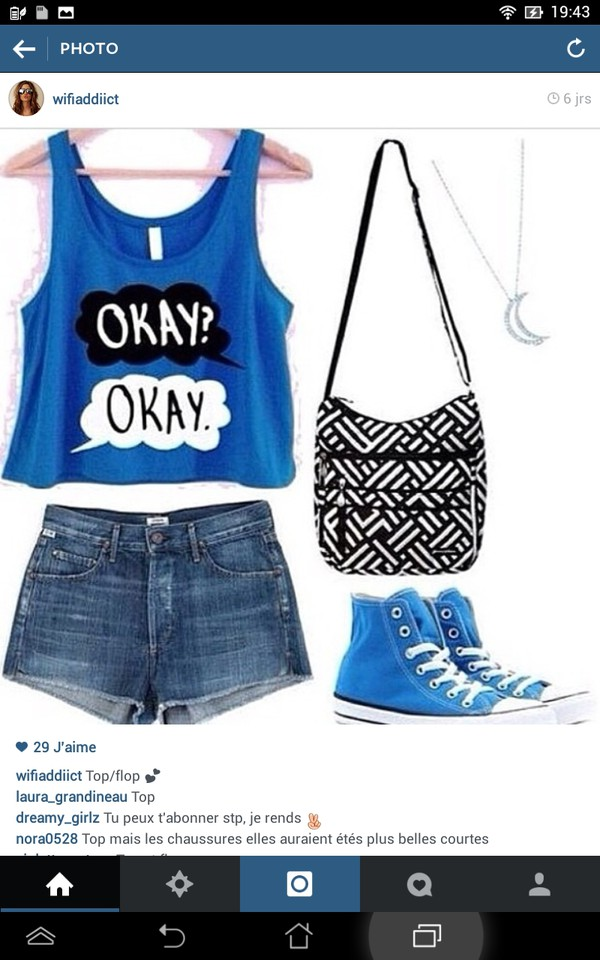 tank top shorts bag jewels shoes
