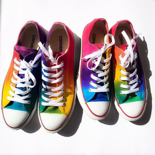c0562ea938e8 shoes rainbow converse by intellexual design rainbow converse tie dye  converse tie dye shoes rainbow shoes