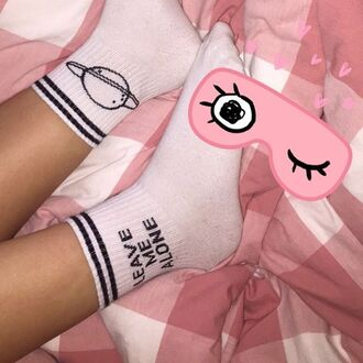 socks yeah bunny alone leave me alone planets space