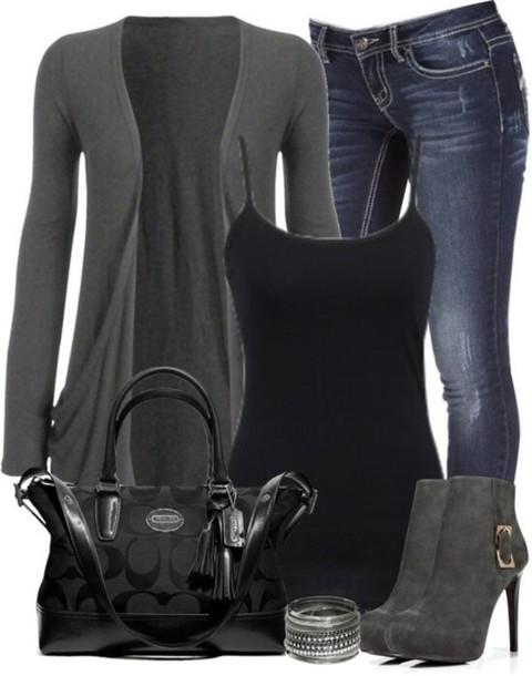 shirt shoes cardigan grey cardigan