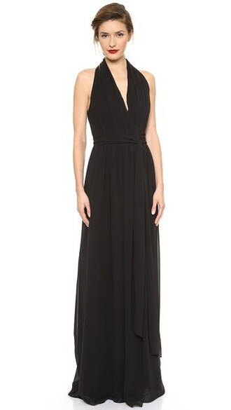 dress wrap dress black