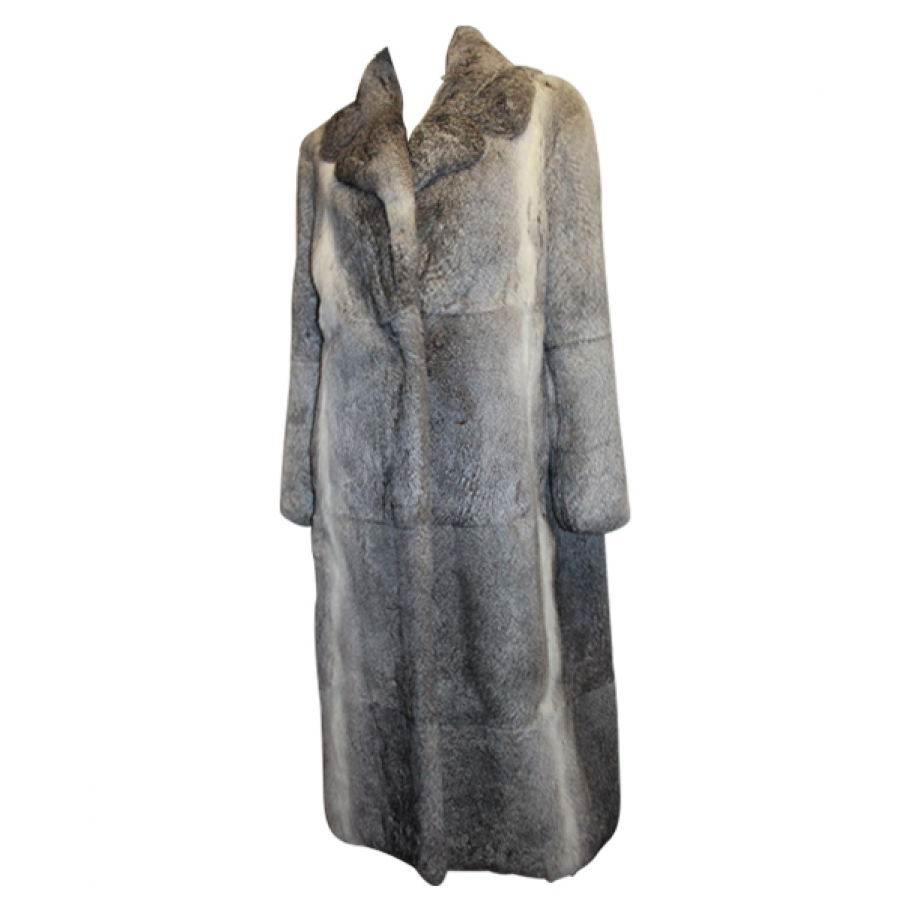 Grey fur coat CELINE Grey size M in Fur Autumn / Winter - 509965