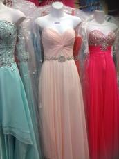 dress,chicas,blush pink,prom dress