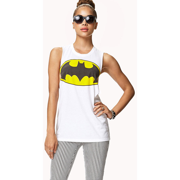FOREVER 21 Batman™ Logo Muscle Tee - Polyvore