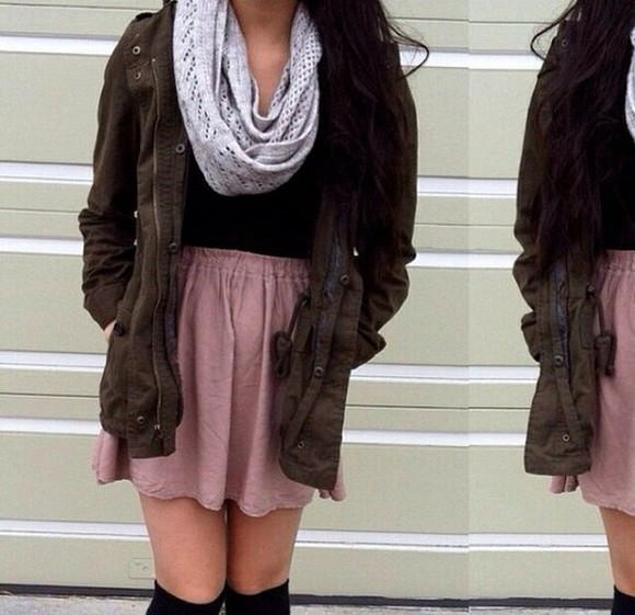 top skirt scarf