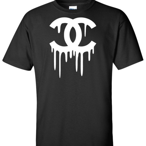 Chanel drip high end logo graphic t shirt super graphic tees for Chanel logo t shirt to buy