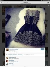 dress,prom dress,lace dress,navy,black,short prom dress