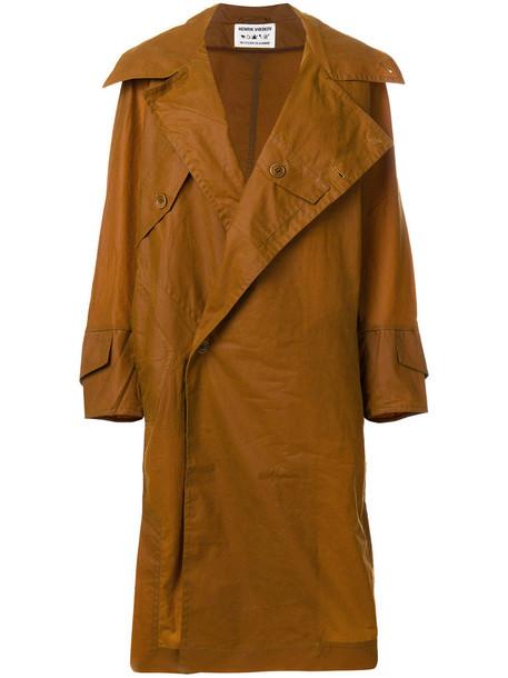 coat oversized women cotton brown