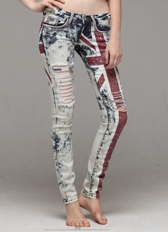 jeans ripped jeans union jack pants luxury