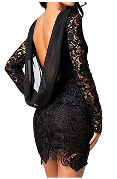 Deena open back dress