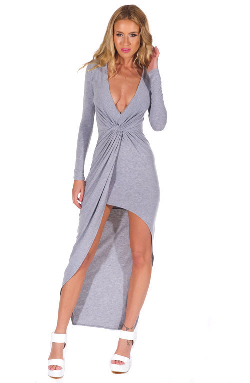 """""""addicted to you"""" side knot maxi jersey dress (3 colors available) – glamzelle"""