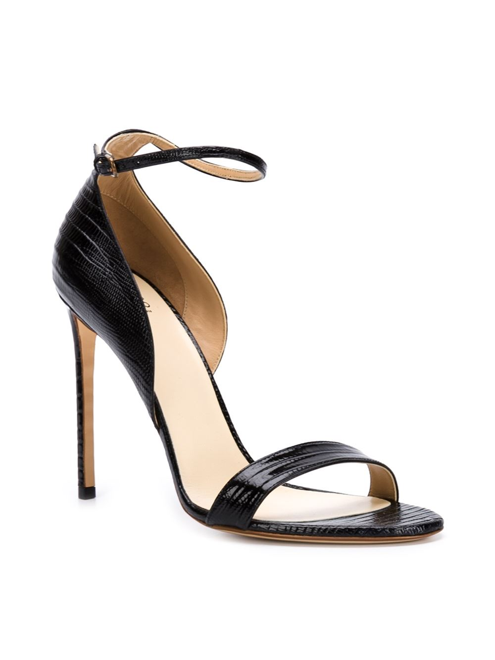 Francesco Russo Croc Effect Sandals - The Webster - Farfetch.com