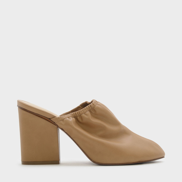 mules camel shoes