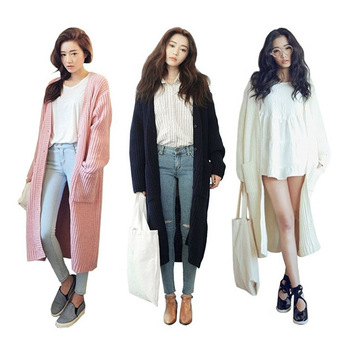 Aliexpress.com : Buy 2014 New Arrival Hot Loose Sweater Coat Pink ...