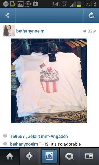 usa t-shirt tshirt brandy melville united states cupcake 4th of july