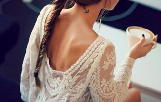 white blouse blouse top boho