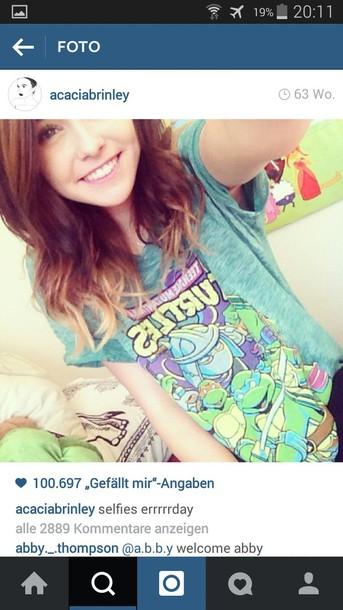 shirt blue acacia brinley turtles tumblr
