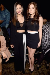 skirt,victoria justice,zoey deutch,black and white