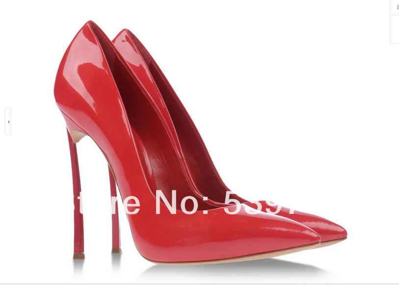 Genuine leather brand women shoes sexy blade heels  Steel girl pumps-in Pumps from Shoes on Aliexpress.com