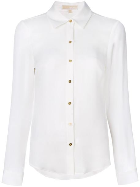 MICHAEL Michael Kors shirt women white silk top