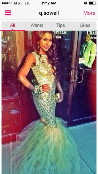 dress mermaid fitted teal prom long