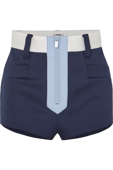 Miu Miu - Color-block neoprene shorts