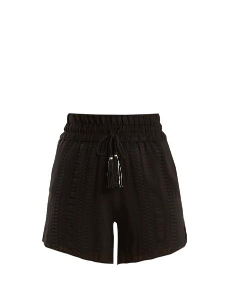 ZEUS + DIONE shorts jacquard geometric silk black