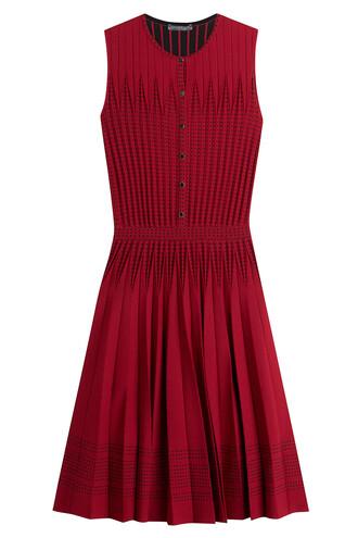 dress mini dress mini pleated wool red
