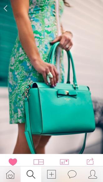 bag green mint green bag ted baker love