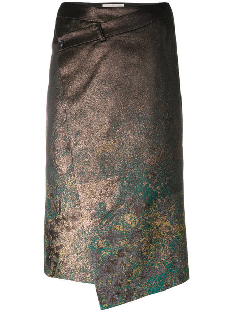 A.F.VANDEVORST skirt women cotton silk grey metallic