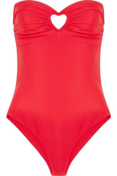Paper London bandeau swimsuit red swimwear