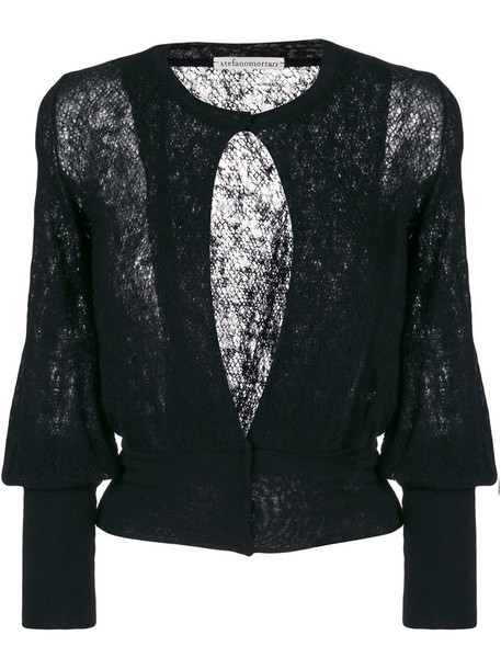 Stefano Mortari cardigan cardigan women lace black wool sweater