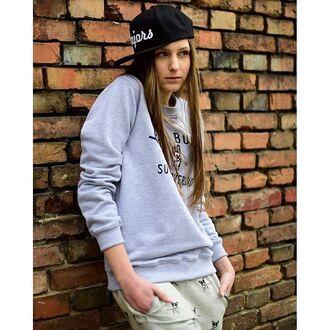 blouse yeah bunny dog cute comfy grey frenchie sweatshirt
