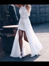 dress,white,wedding dress,wedding,prom,prom dress,maxi dress,summer dress,long dress,sexy dress,bridesmaid,bride dresses,bridal dresses