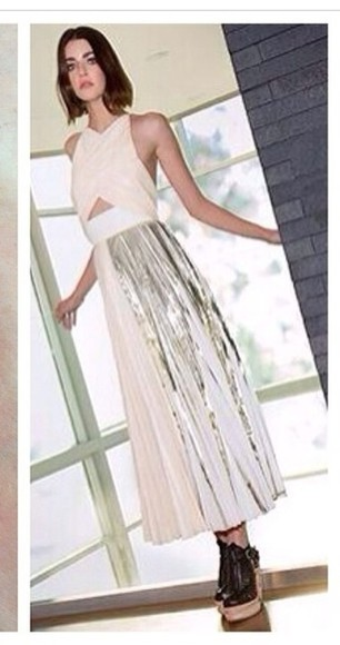 dress metallic dress prom dress instagram metallic skirt