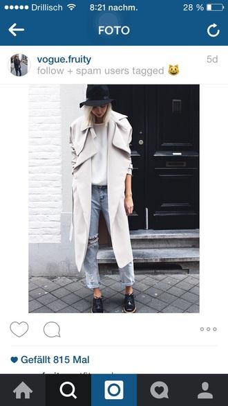 coat white jacket fashion modern white elegan