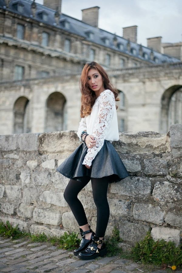 rosa pel's blog t-shirt jacket coat skirt shoes