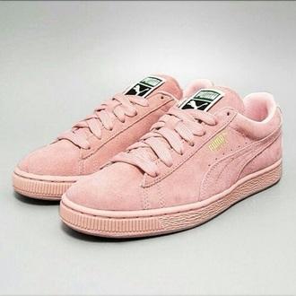 shoes puma suede light pink