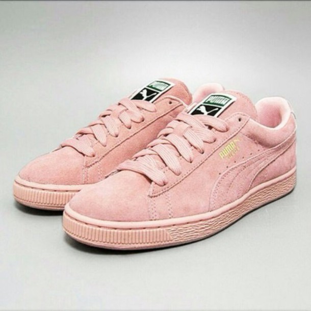 shoes puma suede light pink be41b7db9