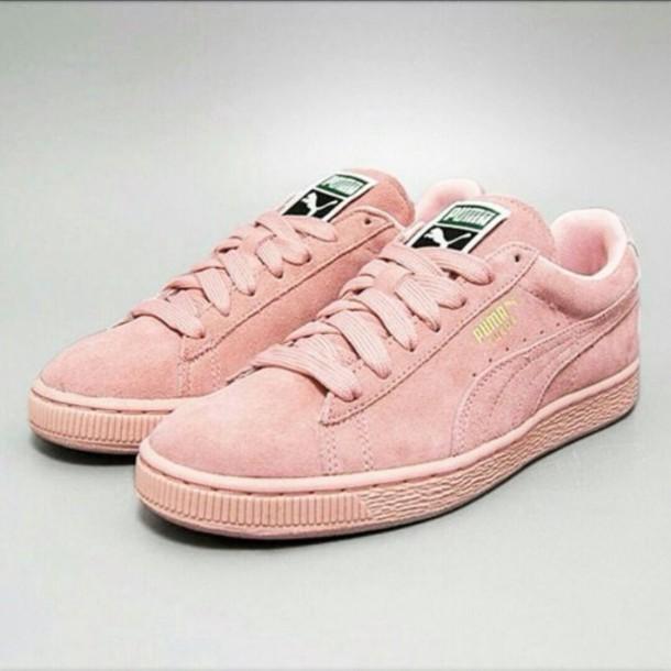 07cf79755faa shoes puma suede light pink