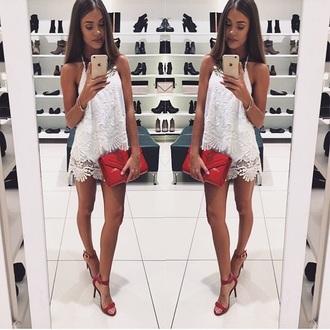 dress top skirt lace dress lace top shoes