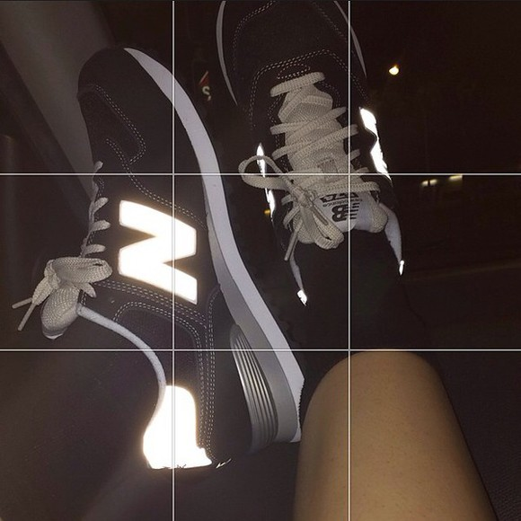 shoes sneakers pale monochrome grey grunge new balance