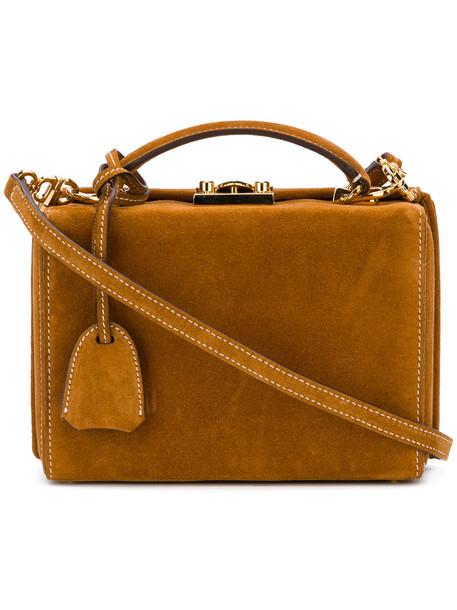 Mark Cross women handbag suede brown bag