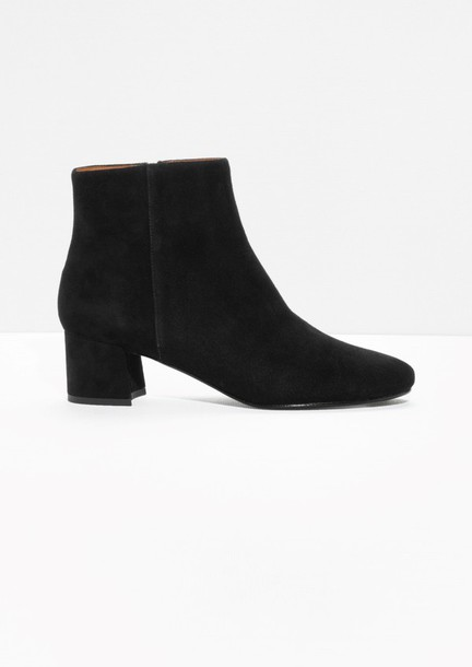 shoes boots ankle boots suede boots fall outfits black
