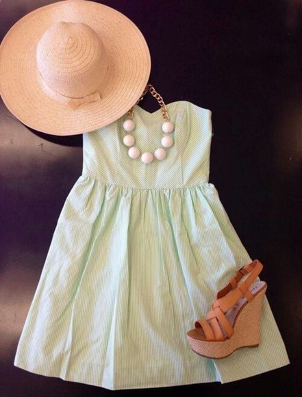 dress mini short summer cute summer dress summer dress pink jewels jewelry necklace pink pearls pearl necklace