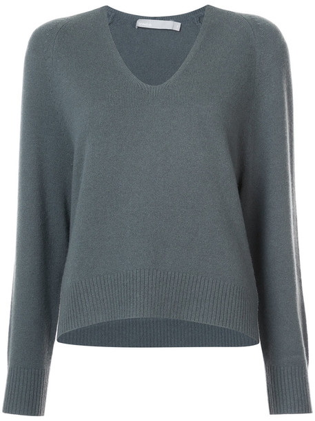 Vince jumper cropped women green sweater