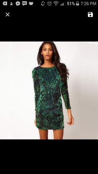 dress sequin dress blue dress short dress