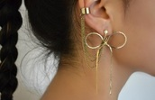 jewels,earrings,gold,bow,latch,fashion,jewelry,clothes